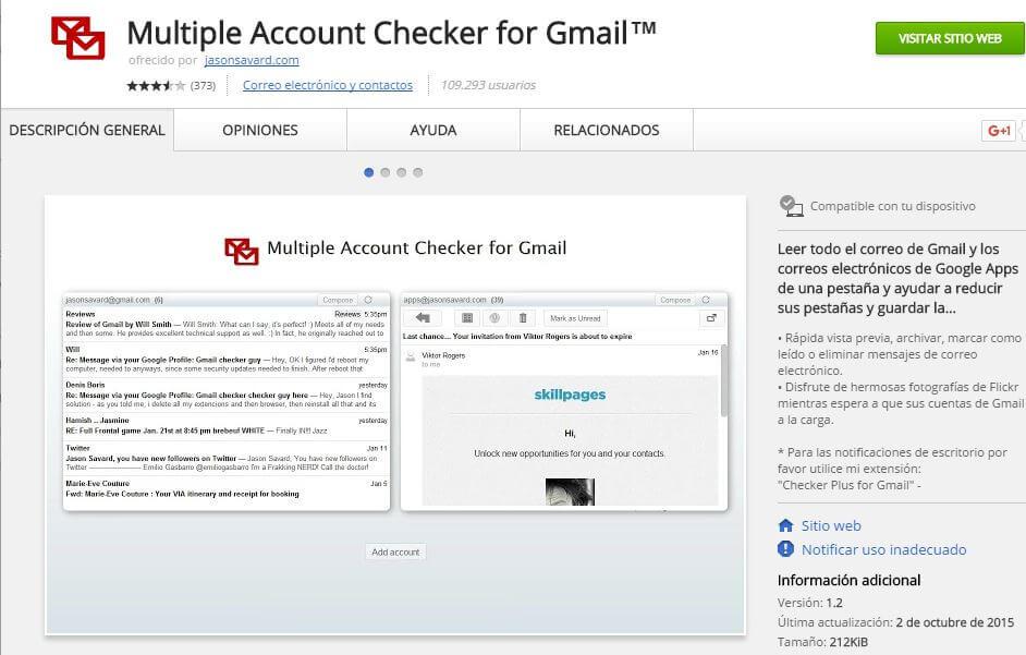 correo de gmail multiple accounts checker
