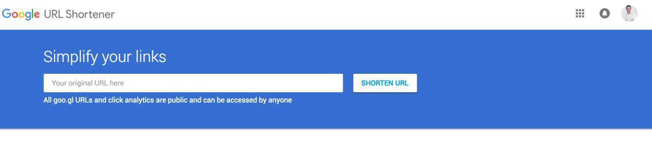 acortar url acortadores url google